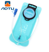 AOTU 2L Blue Big Hole Outlet TPU Water Bag Outdoors Water Packs Sporting Camping Bicycling Cycling Backpack Water Pipe Bags