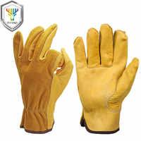 Ozero nuevos hombres de seguridad ropa de protección guantes de trabajo de seguridad del conductor del zurriago de soldadura trabajadores moto guantes para los hombres 0007