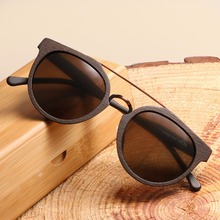 Novo design vintage acetato madeira óculos de sol para homem/mulher