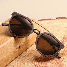 Yeni tasarım Vintage asetat ahşap güneş gözlüğü erkekler/kadınlar için