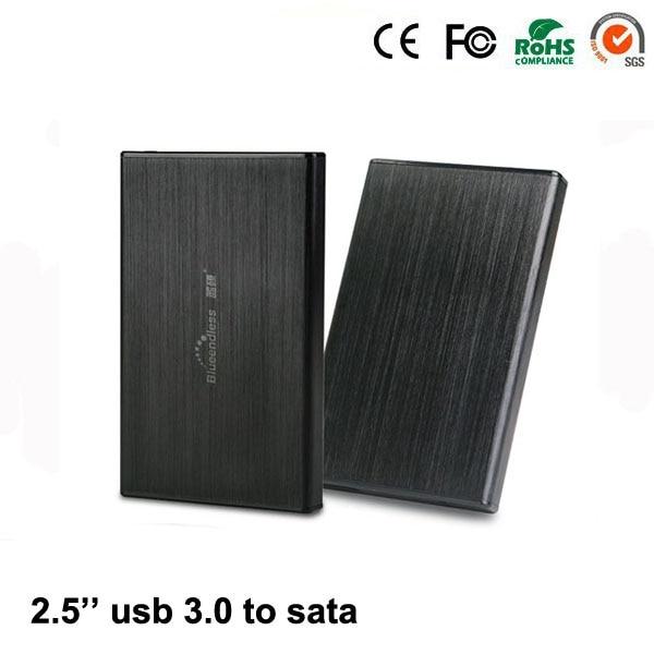 2 pcs hdd rack Aluminum 2.5 USB 3.0 sata box hdd ssd 2.5 2.5 1TB 7mm 9.5mm for notebook hdd bay hdd laptop drive bay