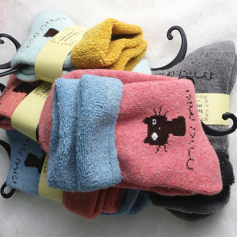 5pair/lot Winter New Pattern Search Mouth   Socks   Cashmere   Socks   Lovely In Tube   Socks   Leisure Time Woman   Socks   Short Boot   Socks