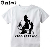 Baby Boys/Girls jiu jitsu Brand Printed T Shirt Kids Short Sleeve Tops Children's Funny White T-Shirt(China)
