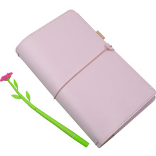 KKBook Cute Leather Travelers Notebook Portable Traveler Journal Dotted Diary