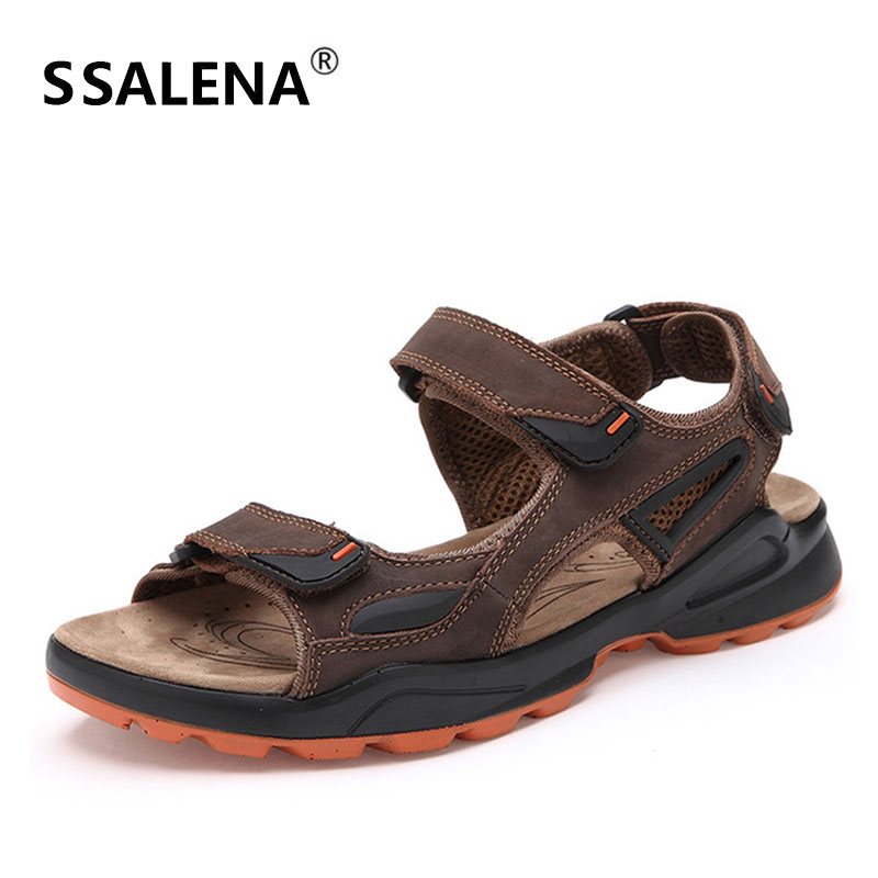 aa9f5e71348d Mens Antiskid Leather Sandals Men Comfortable Breathable Summer Beach  Sandals Men Casual Open Toe Roman Shoes AA51632
