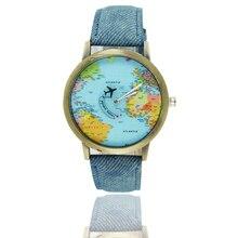 Кварцевый Для мужчин Для женщин часы влюбленных классический кожаный ремешок модные Повседневное карта мира пара Hardlex круглый студент Наручные часы