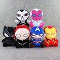 6 шт./лот Супергероев Мстители Бэтмен Железный Человек Bleach Черная Вдова Супермен Супер Человек Плюшевые Игрушки Куклы с sucker