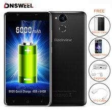 Blackview P2 4 ГБ + 64 ГБ смартфон 5.5 дюймов FHD Android 6.0 Сотовый Телефон MT6750T Окта основные 6000 мАч 13MP + 8MP Камера Мобильного Телефона