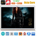 10 polegada Tablet pc 3G WCDMA Octa Núcleo 4 GB RAM 32 GB ROM Android 5.1 IPS GPS wi-fi 5.0MP 10.1 MEADOS Phablet DHL livre