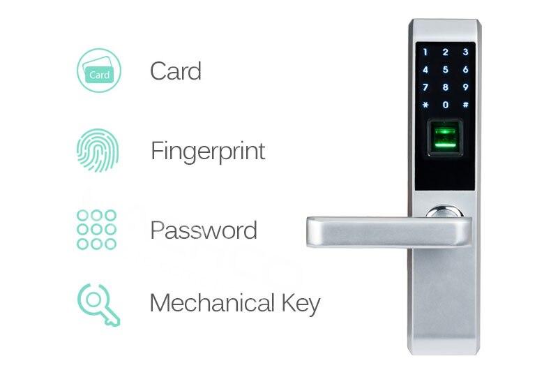 inteligente impressão digital, código, cartão, chave de