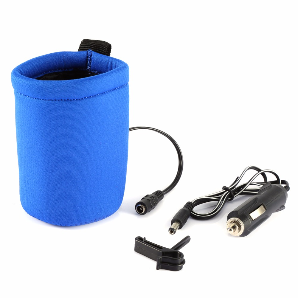 ᗛBebé portátil calentador 12 V coche portátil de viaje botella de ...