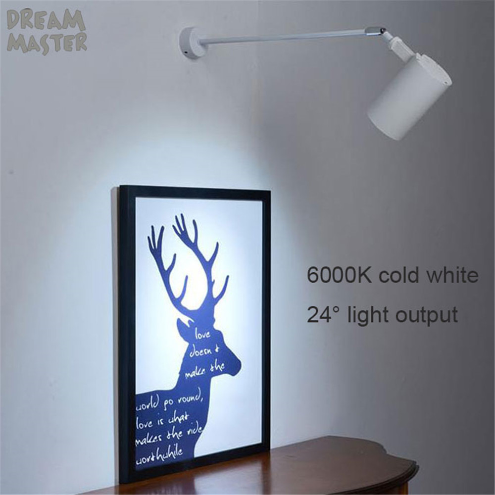 Image 3 - Industrial art Wall spotlights long pole led wall lights for gallery museum picture lighting flexible arm exhibition photo lamp-in LED Indoor Wall Lamps from Lights & Lighting