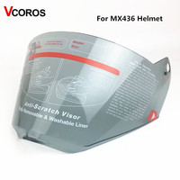 Light Smoke Replacement Shield Visor For LS2 MX436 Motocross Helmet Anti Scratch Free Size LS2 MX436