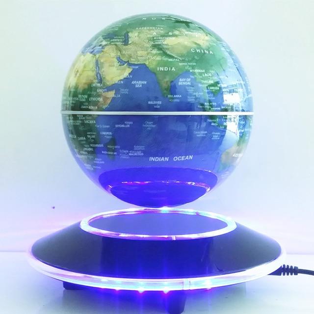 6 Inch Elektronische Magnetische Levitatie Zwevende Wereldbol Kaart ...
