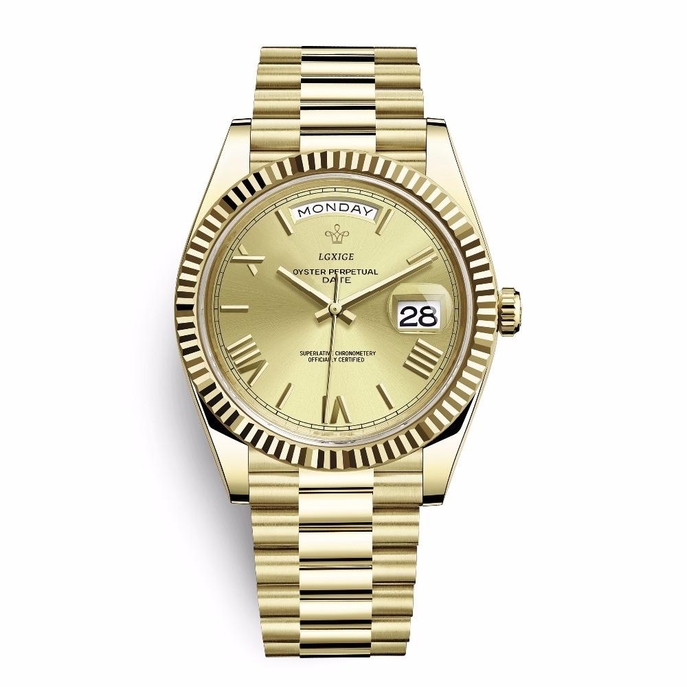 AAA LGXIGE Watches Men Top Brand Luxury Waterproof Day-date Wrist Watch For Men Sport Male Clock GMT Quartz WristWatch 2019 NEW