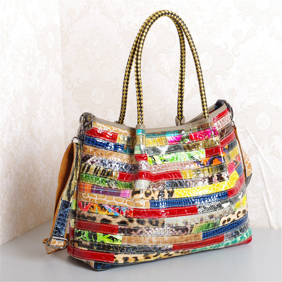 Caerlif Famous Brand Women Handbags Shoulder Crossbody Bags Genuine Leather Bag Bolsas ladies tote bag feminina bag COLORFUL caerlif brand genuine leather bag colorful stripe weave vintage national wind shoulder bags female bag women messenger bags