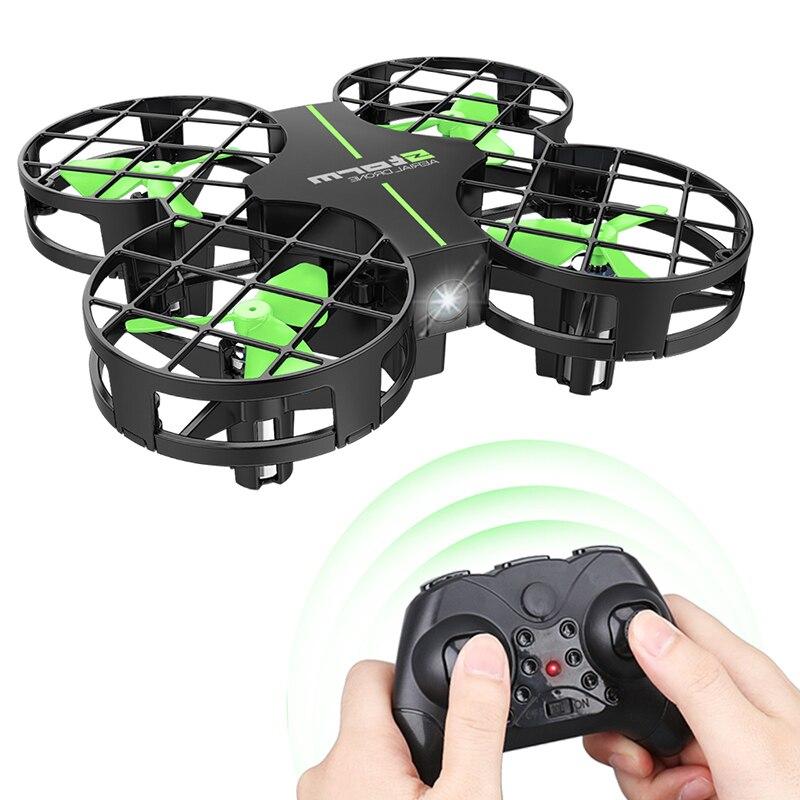 RC Mini Quadcopter Drone 2,4g 4CH Quadcopter RC 4 canales de 6 ejes Gyro helicópteros con LED nueva luz juguetes D2
