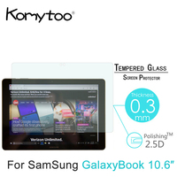 9H 0 3mm 2 5D Tempered Glass For Samsung Galaxy Book 10 6 Toughened Explosion Proof