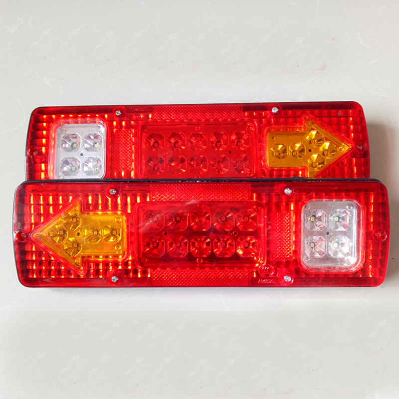 19 Led 12V/24v Car Led Taillight Truck Tail Light 30*9 CM Left And Right Trailer Truck Tail Light Van Lamp Reversing Lights 2Pcs 2pcs left
