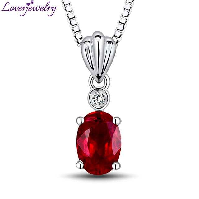 New design oval ruby pendant in 18kt white gold with natural diamond new design oval ruby pendant in 18kt white gold with natural diamond pendant ruby engagement jewelry audiocablefo