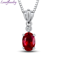 New Design Oval Ruby Pendant In 18kt White Gold With Natural Diamond Pendant Ruby Engagement Jewelry WP057