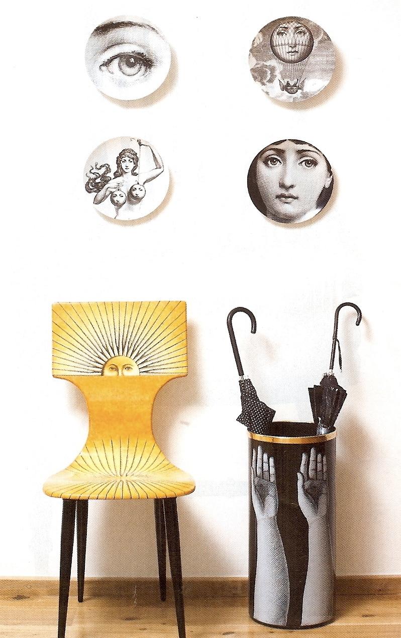 Decorative Face Plates Entrancing Piero Fornasetti Decorative Plates Dishes 8 Inch Fornasetti Face Design Decoration