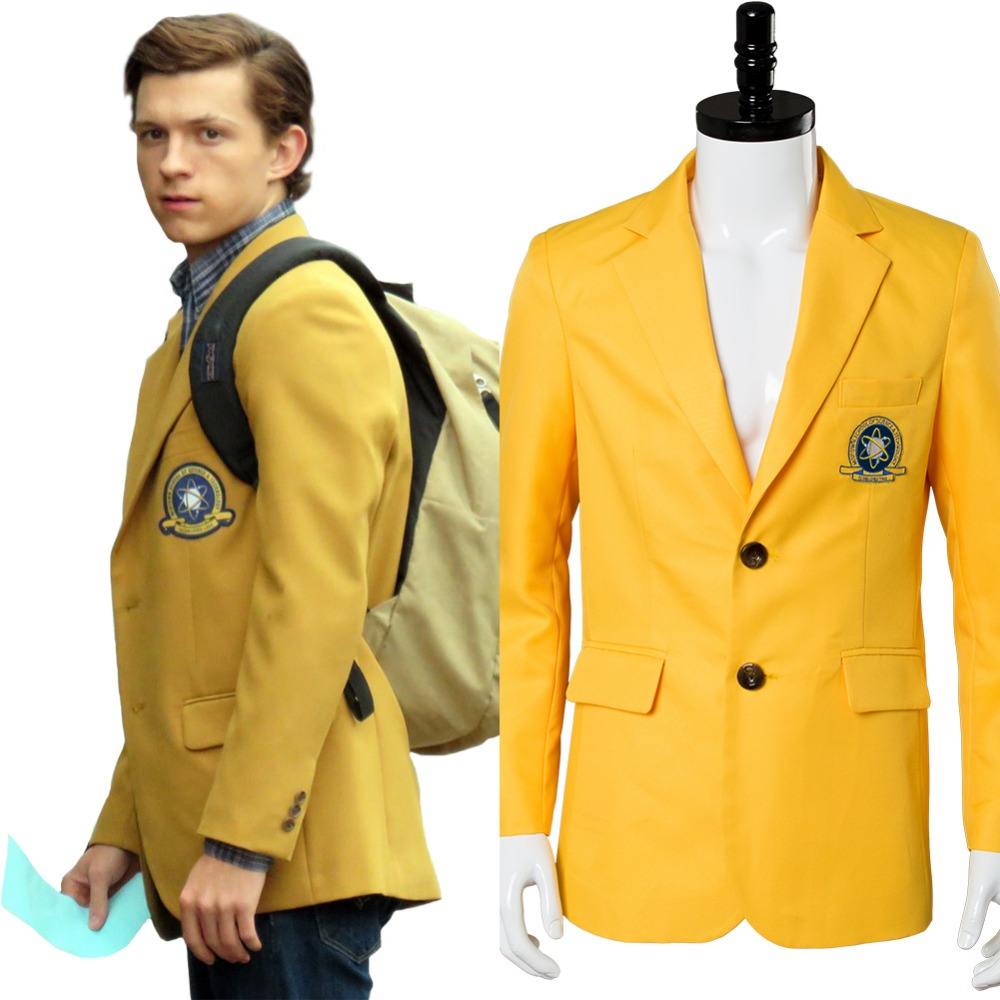 Avengers Captain America 3 Civil War Spider-Man Homecoming Peter Parker Tom Holland Midtown Jacket Coat Cosplay Costume