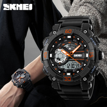Mens Watches Top Brand Luxury Military Watches LED Digital analog Quartz Watch Men Sports Watches Waterproof Relogio Masculino cheap Quartz Wristwatches 26 5cm 22mm 18mm Complete Calendar Auto Date Shock Resistant Water Resistant Stop Watch Back Light Multiple Time Zone LED display Alarm