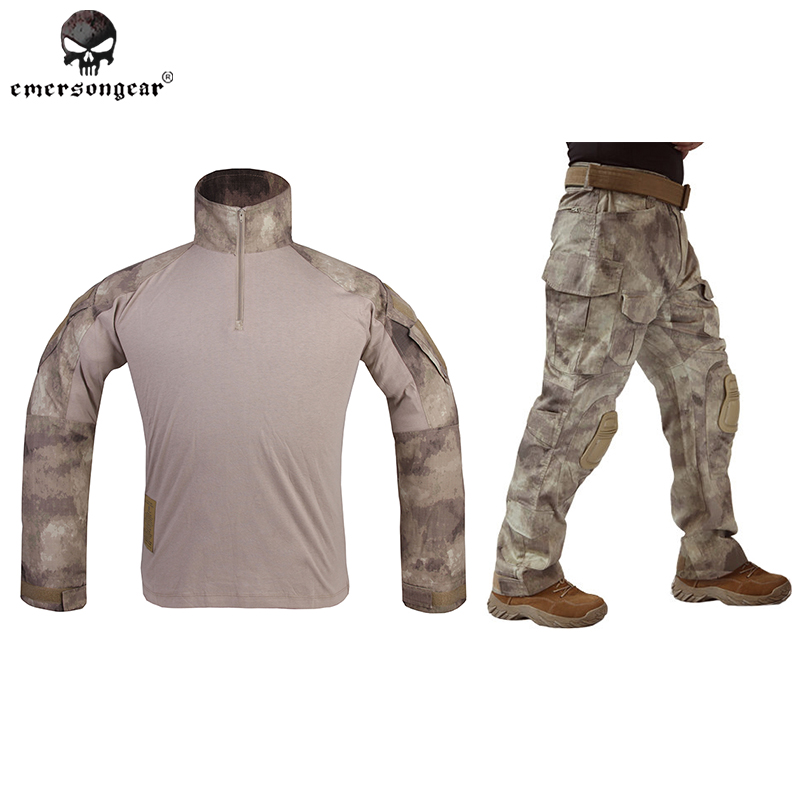 Emersongear G3 Combat Shirt Pants Military BDU Army Airsoft Tactical Gear Paintball Hunting Uniform  BDU Atacs AU Emerson эра стабилизатор sta 1000
