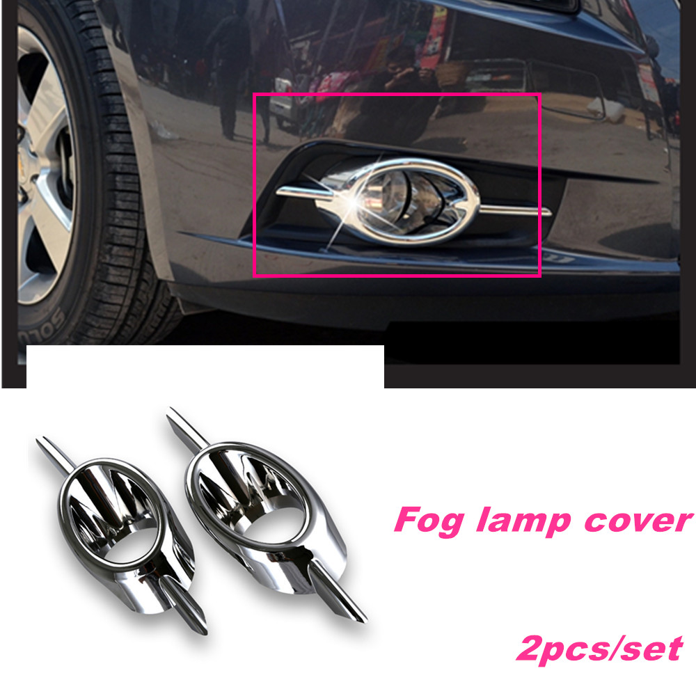 Abs chrome front fog lamp cover fog light frame car styling for chevrolet chevy cruze