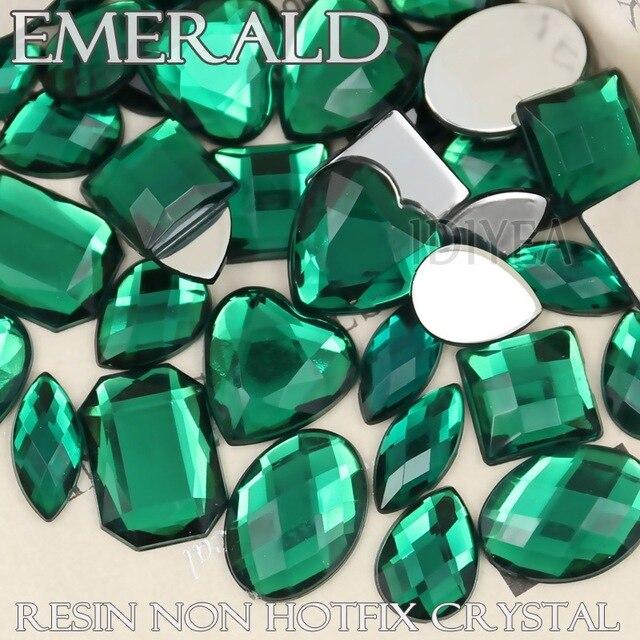 100 unids/lote mezcla formas Esmeralda gran Diamantes con piedras ...