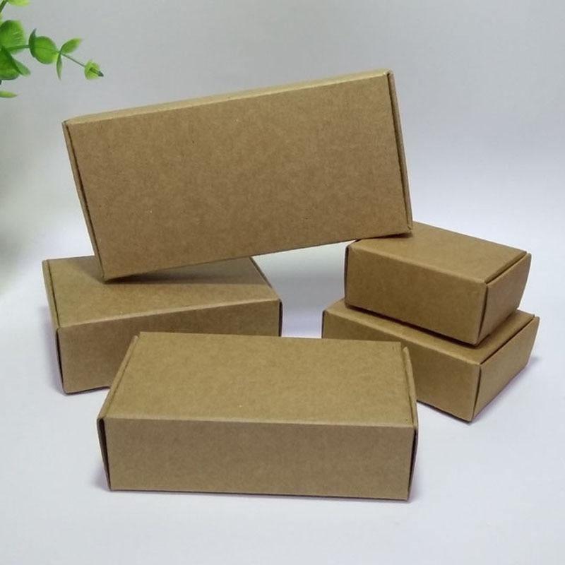 9efec3054f 50 pçs lote Natural Artesanato Caixa De Papel Kraft Caixa de Presente Caixa  de Doces de Casamento Caixa Caixa de Jóias Caixa de Embalagem para Sabão  Cajas