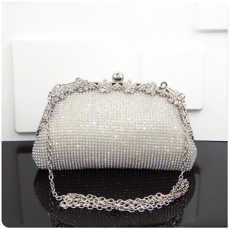 mylb diamond-encrusted hand holds Day Cluthes Minaudiere evening bags single shoulder bags handbags