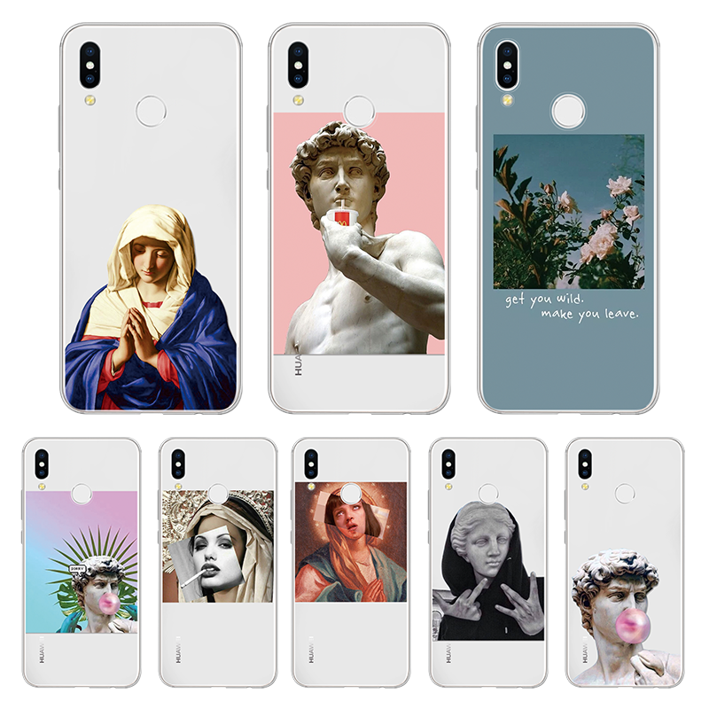 Birth Of Venus Case for Huawei P Smart Y6 Y9 2019 P8 P9 P10 P20 P30 Pro Mate 20 Lite Nova 3i For Honor 8X 7A 10i TPU David Cover