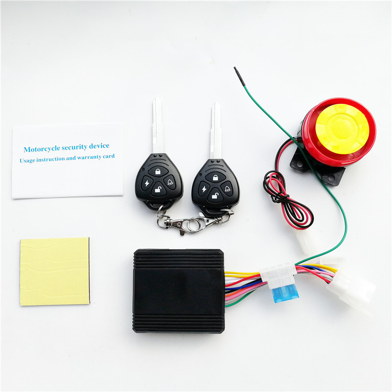 Motorcycle Security Alarm System For Bike Alarm Duplicator 433.92mhz Remote Start 12v LED  Bike 2 Remote Control