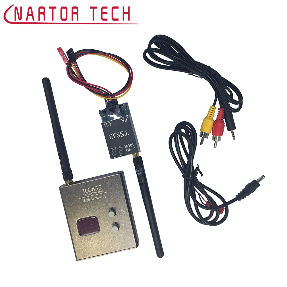 FPV 5.8G 600mW 40CH Wireless Transmitter and Receiver TS832 RC832 Plus Tx Rx Set Image transmission for FPV Multicopter Drone