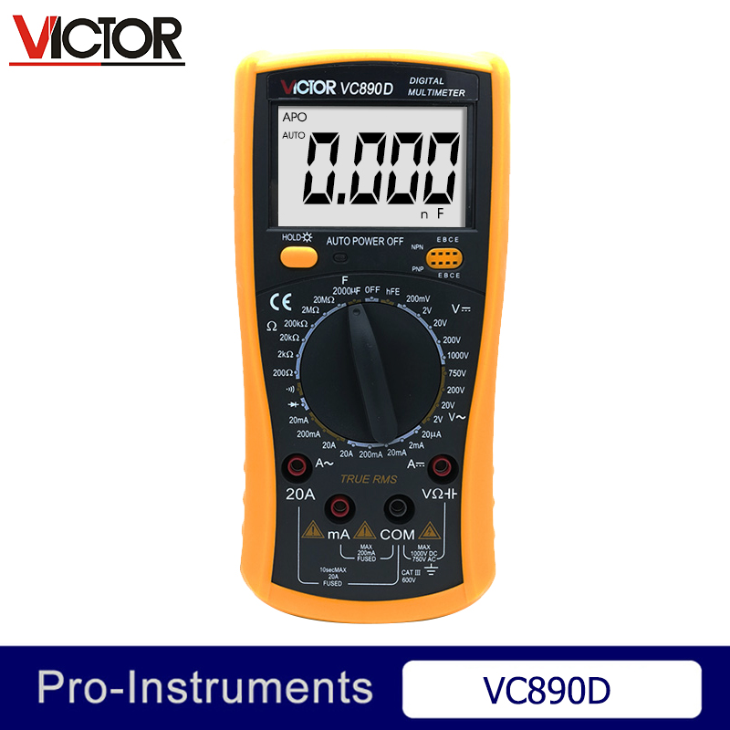 Victor VC890D Digital Multimeter True RMS multimeter capacitor Digital Multimeter Null digital multimeter tm86