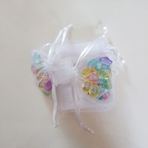 Image 4 - 1000pcs White Gift Bags For Jewelry Bags And Packaging Organza Bag Drawstring Bag Wedding/Woman Travel Storage Display Pouches