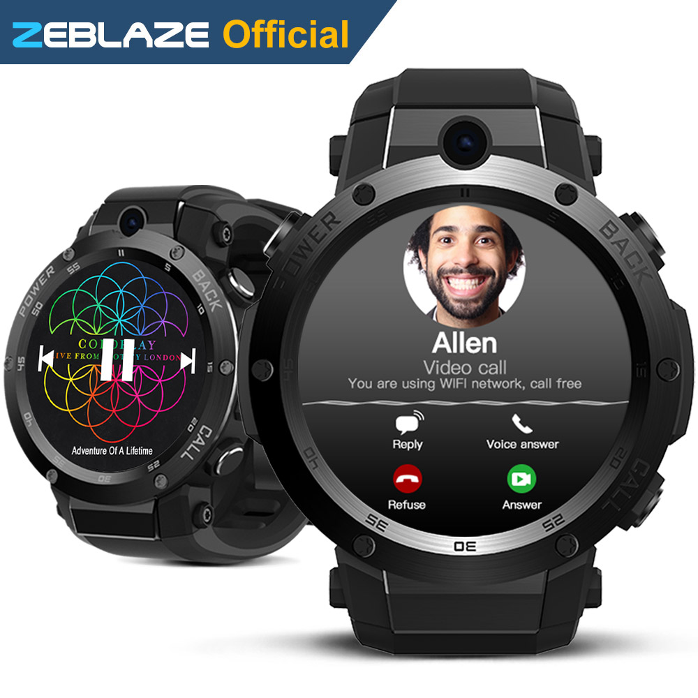 Nouveau Zeblaze Thor S 3G GPS Smartwatch 1.39 pouces Android 5.1 MTK6580 1.0 GHz 1 GB + 16 GB Montre Smart Watch BT 4.0 Dispositifs Portables