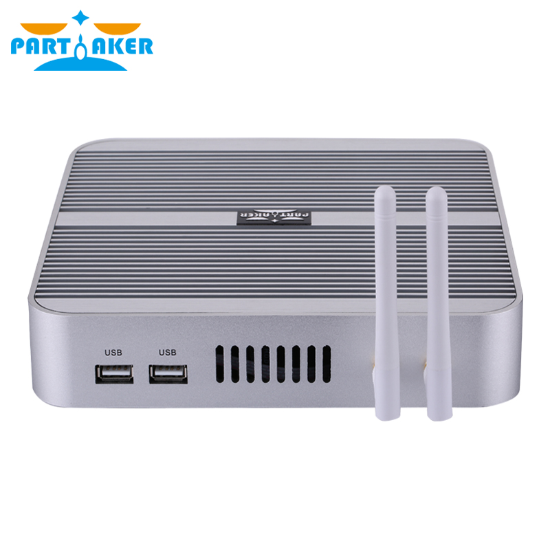 Partaker B1 Intel Mini PC Fanless 5th Gen I7 4500U Haswell HTPC Cloud Terminal VGA HDMI PC Free Shipping