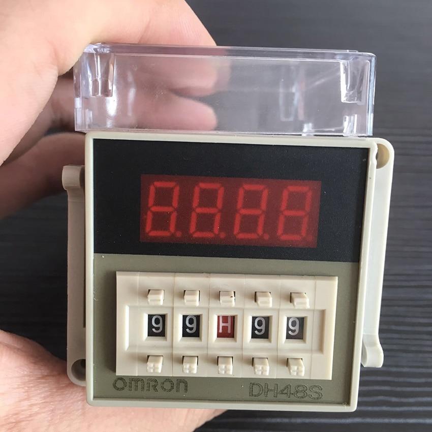 Free Shipping High Quality Omron Time Relay DH48S-1Z Digital Timer AC220V Digital Time Delay Relay genuine taiwan research anv time relay ah2 yb ac220v