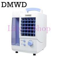 DMWD Portátil Fuerte Viento de Aire Acondicionado Ventilador mini ventiladores de refrigeración de aire Acondicionado Refrigerador eléctrico humidificador enfriador refrigerado por agua