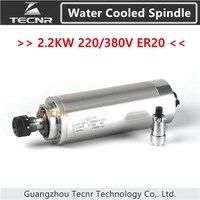 Eixo er20 refrigerado a água do motor 2.2kw 220 v 380 v do eixo do cnc com diâmetro de 80mm GDZ-80-2.2B