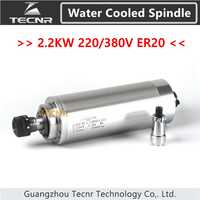 cnc spindle motor 2.2KW 220V 380V water cooled spindle ER20 with 80MM diameter GDZ-80-2.2B