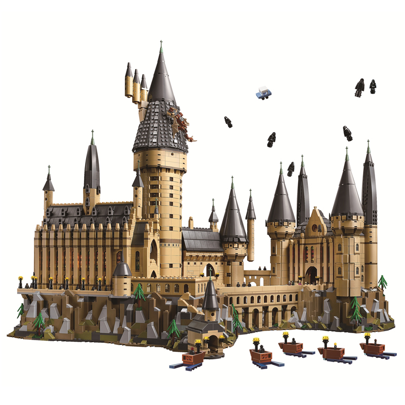 Harry Movie series Hogwarts Castle Building Blocks Bricks DIY Toys for children Gifts Compatible brinquedo legoINGly 71043 16060 harry movie series compatible legoinglys 71043 lepined 16060 hogwarts castle set building blocks bricks christmas toys gifts