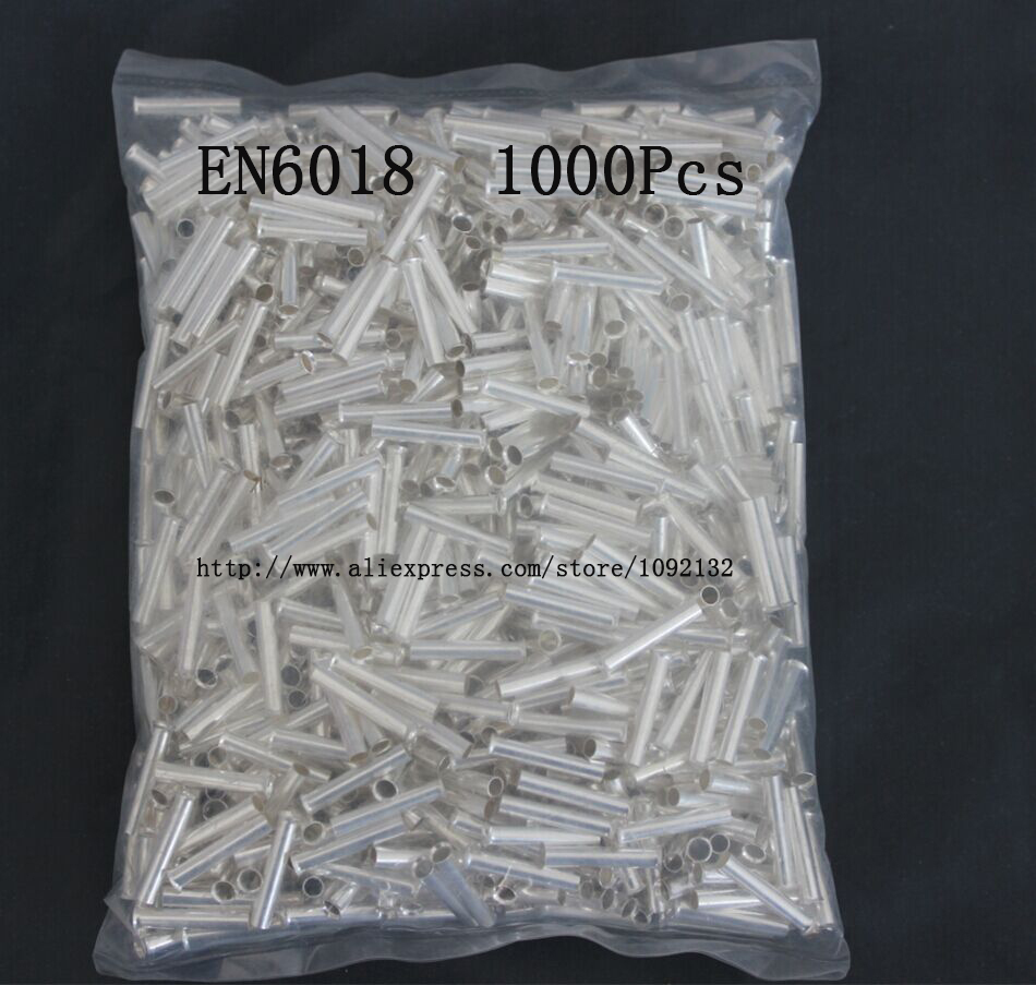 EN6018 Bare Copper Wire Ferrules For 6.0mm2, 10 AWG Wire 18mm of Pin ...