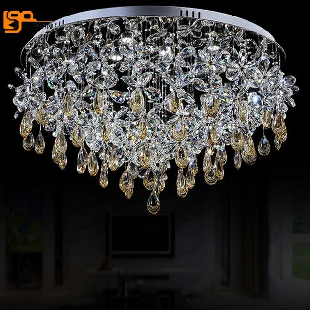 Nouveau encastré cristal moderne lustre salon cristal luminaires