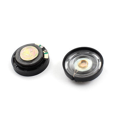 2Pcs 0.25W 16 ohm 29mm Round Black Plastic Magnet Electronic Speaker Loudspeaker 10x 5w watt 2r2 2 2 ohm 5