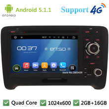 Quad Core 7″ 1024*600 Android 5.1.1 Car Multimedia DVD Player Radio Stereo With 3G/4G WIFI BT GPS Map USB For Audi TT 2006-2014