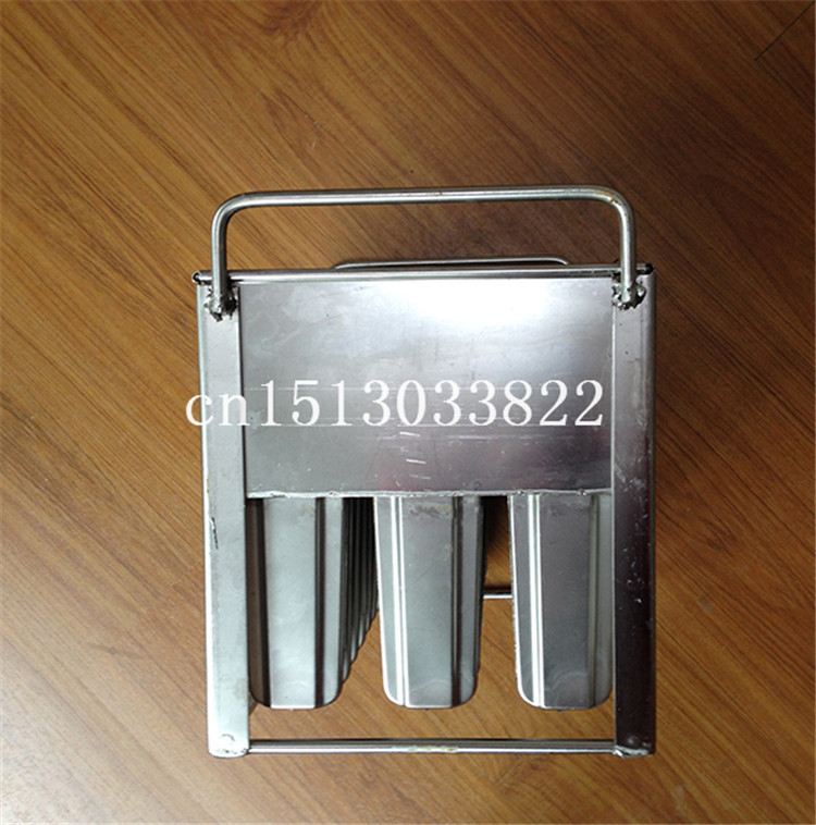 Commerical Stainless Steel Ice Cream Mould ,commercial ice Popsicle mould, ice lolly molds,3x10 popsicles hot sale 6 cell kitchen tools diy frozen popsicle molds tray round shape ice cream mould